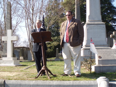 Speaking at the Grave Site